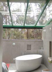 Telhado panorâmico e Janela de vidros